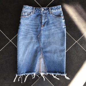 H&M Jean Midi Skirt